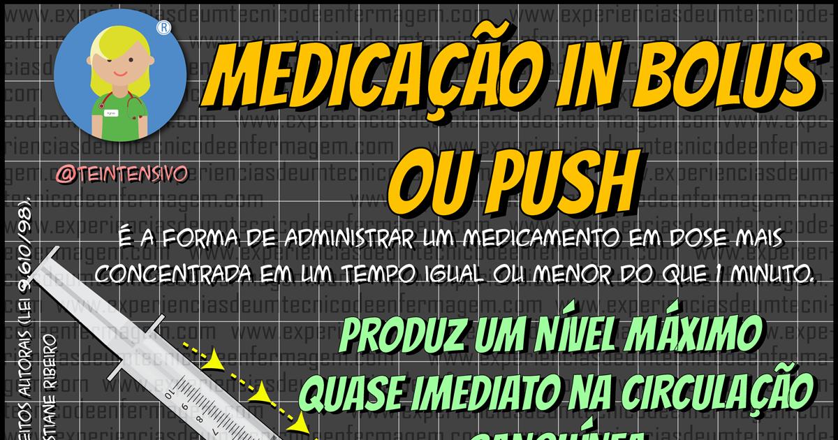 """Administração """"In Bolus"""" ou """"Push"""" de Medicamentos: O que é?"""